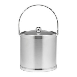 Kraftware - Americano 3-qt. Ice Bucket in Brushed Chrome w Metal Cover - Bale handle. Made in USA. 9 in. Dia. x 9 in. H (3 lbs.)The Grant Signature Home Collection's Americano Collection is the only Real Metal Collection in the U.S.A. This is real home entertaining quality at affordable prices.