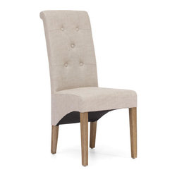 ZUO - Hayes Valley Chair - Beige - If you want dignified yet funky, the Hayes Valley Chair delivers. Comes in beige or charcoal gray linen. From the oak legs to the rolled back, it brings a high class drama to your living room.