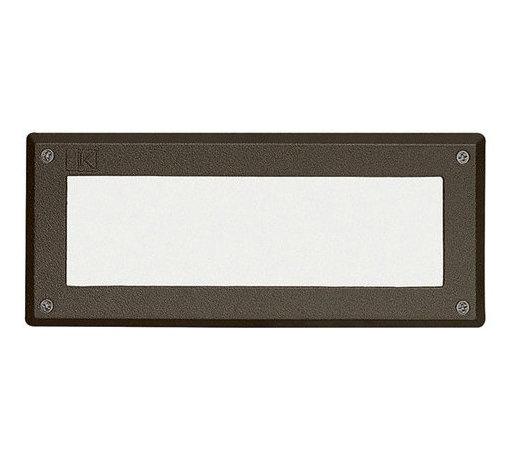 Kichler - Kichler 15774 Pure White 3000K Landscape LED Brick Light - Kichler 15774 LED Glass Lens Face Brick Light
