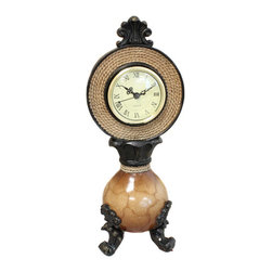 ecWorld - Polyresin Decorative Mantle Accent Table Desk 14-inch Clock - This handsome clock offers timeless charm, while keeping you on time.