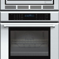 Thermador - 30 inch Masterpiece® Series Triple Oven (oven, convection microwave and warming - Convection two ways, plus a warming drawer. Our Triple Combination Oven gives you the convenience of a True Convection oven with a 4.7 cubic foot capacity, a 1000-watt convection microwave, and a warming drawer. This model features a Professional handle.