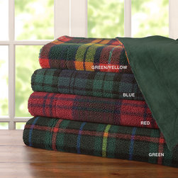Premier Comfort - Premier Comfort Plaid Yarn Dyed Berber Throw - For a cozy cottage look the Plaid Yarn Dyed Berber Throw is the perfect addition to your home. The softness of the berber and solid plush reverse adds extra warmth and comfort. Face: yarn dyed berber pile 80% poly, 20% acrylic, berber base 100% poly, 380gsm Reverse: solid micro raschel, brushed one side, 100% poly, 220gsm