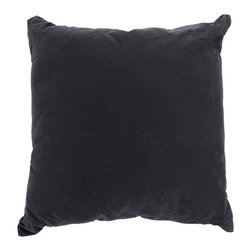 Zentique - 20x20 Pillow, Black - 20x20 black linen pillow.