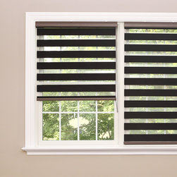 None - Premium Charcoal Wood Look Duo Roller Window Shade - Control the amount of light and privacy in your kitchen,bedroom,office or living area with these polyester duo-roller window shades. Designed to look like wood,these premium charcoal shades include a child safety tension device.