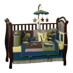 Sweet Jojo Designs - Construction 9 Piece Crib Bedding Set - The Construction Zone 9-Piece Crib Bedding Set by Sweet Jojo Designs has all that your little bundle of joy will need. Let the little one in your home settle down to sleep in this incredible nursery set. The Construction Zone collection is the perfect look for your busy builder.