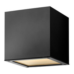 Hinkley - Hinkley Kube One Light Satin Black Outdoor Wall Light - 1766SK-GU24 - This One Light Outdoor Wall Light is part of the Kube Collection and has a Satin Black Finish. It is Outdoor Capable, and Wet Rated.