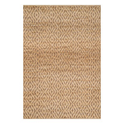 """Loloi Rugs - Loloi Rugs Istanbul Collection - Natural / Red, 2'-3"""" x 3'-9"""" - The warm, all natural tones of 100% jute of the Istanbul Collection offer raw elegance and an organic feel for any room. Intricately hand woven in India, Istanbul is available in simple geometric patterns."""