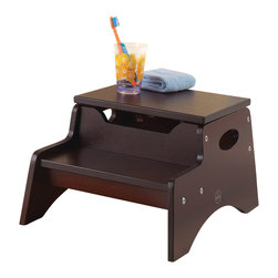 "KidKraft - Kidkraft Kids Playroom Toy Storage Organizer Wooden Step N Store Stool Espresso - Our Step'n Store brings kids one step closer to both independence and hard-to-reach objects. Small enough that it can be kept in any room without taking up too much space, the Step'n Store is a perfect gift for kids who like to be brave and do as much on their own as possible. Dimension: 14""x 12.5""x 10""H"