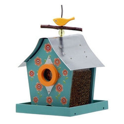 Rosso's International - Retro Chic Feeder Flowers - Our bird feeders are fully functional and the roofs are made of galvanized steel.
