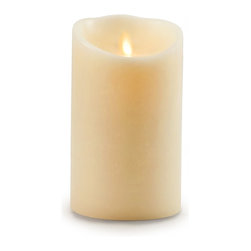 "Balsam Hill - 9"" x 4"" Battery Operated Pillar Candle Large - Balsam Hill®7"" x 4"" Battery Operated Pillar Candles bring a comforting glow to your home with safety and convenience. Made from real paraffin wax, these pillar candles are realistic with a modern twist. They feature innovative Luminara lighting technology, a combination of magnets and highly focused LED lights, to mimic the soft flickering of real flames with a lifelike gold tint. They also have a timer functionality and a universal remote control for utmost convenience. Bring light to the dark corners of your home with the soft glow of our Flameless Battery-Operated Pillar Candles."