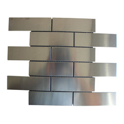 """mosaicandtilesource - """"SUB WAY"""" Stainless Steel Subway Metal Mosaic Tile Backsplash Tiles Wall Bath - Your ONLINE shop at home tile store."""