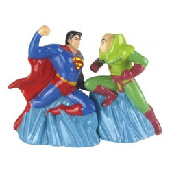 Westland - 4 Inch Superman VS Arch Nemesis Lex Luther Salt and Pepper Shakers - This gorgeous 4 Inch Superman VS Arch Nemesis Lex Luther Salt and Pepper Shakers has the finest details and highest quality you will find anywhere! 4 Inch Superman VS Arch Nemesis Lex Luther Salt and Pepper Shakers is truly remarkable.