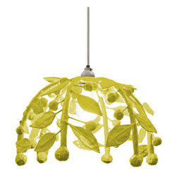 Gabby Pendant Light - This whimsical pendant is a botanical dream, providing a glow surrounded by dangling sculptural stems overhead.