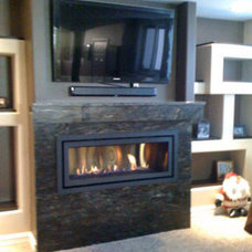 Contemporary Indoor Fireplaces by Northwest Metalcraft