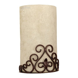 Capital Lighting - Capital Lighting Garden Gate Traditional Wall Sconce X-ZM1673 - This Capital Lighting Garden Gate Traditional Wall Sconce makes decorating with style simple. It features detailed scroll work in a rich and warm Mediterranean bronze finish that perfectly complements the beautiful rust scavo glass shade. You surely can't go wrong when decorating with this simple yet elegant light fixture.
