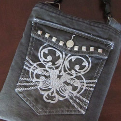 Handmade iPad Case Sleeve From Recycled Gray Jeans By iPadlady - Upcycled denim finds a new use as an iPad sleeve.