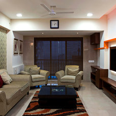 Eclectic Living Room by Anish Motwani Associates
