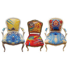 eclectic dining chairs by Elizabeth Carrington