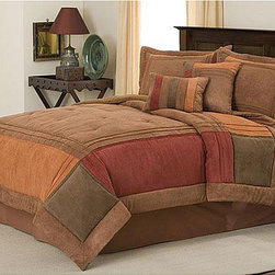 None - Handcrafted Birchwood 8-piece Comforter Set - Redesign your entire bedroom decorating scheme around the Birchwood eight-piece handcrafted comforter set. It features a woven design with multicolored blocks of fabric for a timeless look that can grow with you through many style changes.