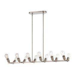 Minka Lavery - Minka Lavery 1134 12 Light 1 Tier Linear Chandelier from the Downtown Edison Col - Twelve Light Single Tier Linear Chandelier from the Downtown Edison CollectionFeatures: