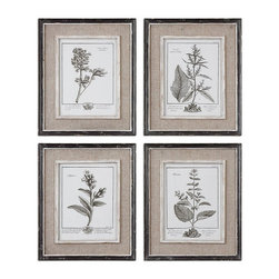 Uttermost - Uttermost Casual Grey Study Framed Art Set/4 - 32510 - Uttermost Casual Grey Study Framed Art Set/4 - 32510