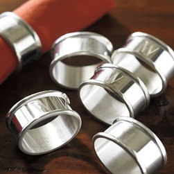 Maxfield Napkin Rings - Using real napkins adds a touch of class to your holiday dinner, and these napkin rings add a touch of elegance. Guests will know that you put a lot of thought into making dinner perfect.