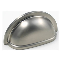 "Rusticware - 960 3"" on Center Bin Pull - Satin Nickel - This Satin Nickel bin pull is a versatile and stylish piece of hardware that will add to the decor of any room in your home. All Rusticware knobs and pulls come with standard 8/32"" screws and screws that are 1/2"" longer to fit most applications."