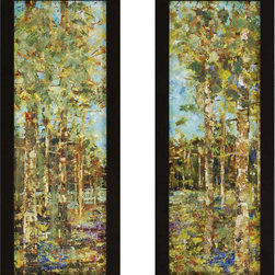 Paragon Decor - Abundance Set of 2 Artwork - Prints are textured and feature hand-painted embellishments.
