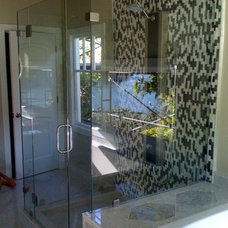 Contemporary Showers by Old Town Glass