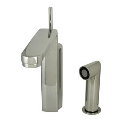 Jado - Jado Glance Platinum Nickel Single Lever Kitchen Faucet w/ Spray 831860.150 - Glance Kitchen Faucet with Single Lever Handle and Metal Side Spray