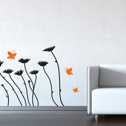 Daisies and Butterflies Decal