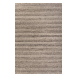 Jaipur Rugs - Jaipur Rugs Tetured Eco Friendly Wool Gray/Area Rug, 2 x 3ft - Flat woven un-dyed wool with different textural elements makes this collection feel both rustic and sophisticated. The best of both worlds!