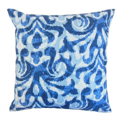 "The Pillow Collection - Coretta Geometric Pillow, Blue 20"" x 20"" - This inviting and refreshing decor pillow is a great statement piece for your interiors."