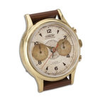 Uttermost - Uttermost Wristwatch Alarm Round Aureole Clock - Brass rim with leather stand. Requires 1-AA battery.