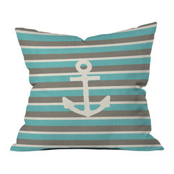 Bianca Green Anchor 1 Outdoor Throw Pillow - Do you hear that noise? it's your outdoor area begging for a facelift and what better way to turn up the chic than with our outdoor throw pillow collection? Made from water and mildew proof woven polyester, our indoor/outdoor throw pillow is the perfect way to add some vibrance and character to your boring outdoor furniture while giving the rain a run for its money.