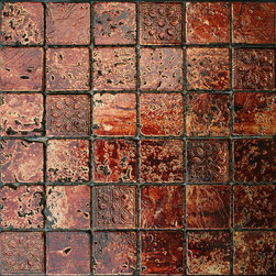 Maximo Glass Tile Etched A -