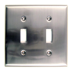 Rusticware - 785 Double Switch Switchplate - Satin Nickel - This Satin Nickel lighted door button is a stylish piece of hardware that will add to the decor of any room in your home.