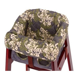 Balboa Baby - Balboa Baby High Chair Cover in Swirl - The soft, quilted Balboa Baby High Chair Cover provides a comfy seat for baby, but it is also designed to keep baby from coming into contact with the chair itself.