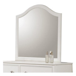 "Coaster - Coaster Dominique Mirror in White Finish - Coaster - Mirrors - 400564 - Add that perfect touch to your youth's bedroom with this dresser mirror. The piece carries a crisp white finish and features a lovely arched top that will give your room a great sense of balance. You'll be set with this dresser mirror in your home.White FinishCasual styleVertical MirrorSpecifications:Overall product dimensions: 33.75""W x 33.75""H x 1""D"