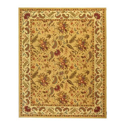 Safavieh - Safavieh Chelsea Country & Floral Hand Hooked Wool Rug X-8-A141KH - 100% pure virgin wool pile, hand-hooked to a durable cotton backing. American Country and turn-of-the-century European designs. This collection is handmade in China exclusively for Safavieh.