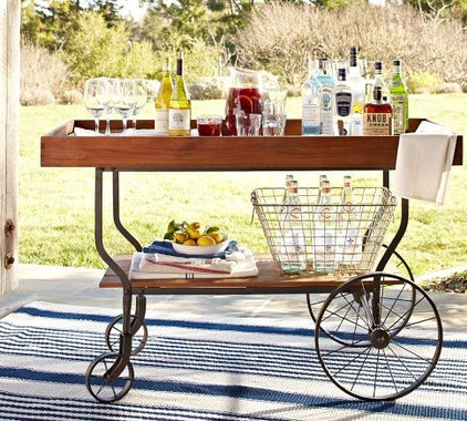 Contemporary Outdoor Serving Carts by Pottery Barn