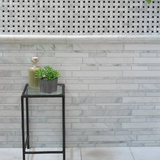 "Contemporary Tile ""Manhattan"" 12""x13"" polished stackstone mesh"