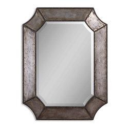 Uttermost - Uttermost 13628 B Elliot Distressed Aluminum Mirror - Uttermost 13628 B Elliot Distressed Aluminum Mirror