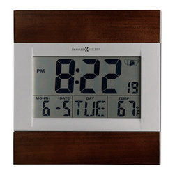 HOWARD MILLER - Howard Miller Techtime III- Radio Controlled Clock - This LCD alarm clock features: