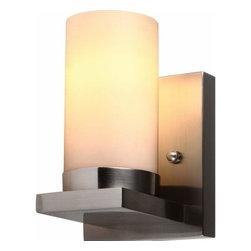 Sea Gull Lighting - 1-Light Wall / Bath Brushed Nickel - 41585-962 Sea Gull Lighting Ellington 1-Light Wall / Bath with a Brushed Nickel Finish