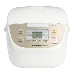 Panasonic - Panasonic White 5-cup Rice Cooker/ Steamer - Make up to ten cups of delicious sticky,brown or white rice with this user-friendly rice cooker. Featuring a push button design for ease of operation,this versatile rice cooker features four additional settings for maximum potential.