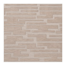 """Dalyn Rugs - Dalyn Rugs Dover DV6 Putty Rug DV6PU12SQ - """"Luxury"""", made in the USA. Stylish, tonal, geometric and floral designs. Textural cut and loop pile. 100% premium wool."""