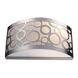 Elk Lighting - Elk Lighting 31020/2 Retrovia Modern Wall Sconce in Polished Nickel - Elk Lighting 31020/2 Retrovia Modern Wall Sconce in Polished Nickel