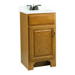 "DHI-Corp - Richland Nutmeg Oak Vanity Cabinet with 1-Door, 18"" by 33.5"" - The Design House 541102 Richland Nutmeg Oak Vanity Cabinet features a nutmeg oak finish with a water resistant seal. This product has a rustic shabby chic design, meshing modern construction with vintage aesthetics, and has a 1-door construction. With a solid door frame, this vanity measures 18-inches by 16-inches by 33.5-inches and is built to withstand years of repeated use. With a country living motif, this vanity graces your home with its bright finish and clean lines. This product is CARB compliant, which means it adheres to the toughest production standards in the world for formaldehyde emissions (in wood composite paneling). The Design House 541102 Richland Nutmeg Oak Vanity Cabinet has a 1-year limited warranty that protects against defects in materials and workmanship. Design House offers products in multiple home decor categories including lighting, ceiling fans, hardware and plumbing products. With years of hands-on experience, Design House understands every aspect of the home decor industry, and devotes itself to providing quality products across the home decor spectrum. Providing value to their customers, Design House uses industry leading merchandising solutions and innovative programs. Design House is committed to providing high quality products for your home improvement projects."