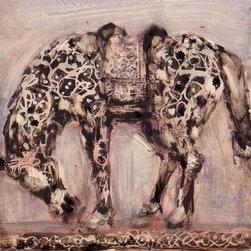 Black & White Horse, Original, Painting - Oil on panel